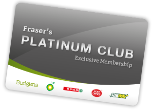Frasers Budgens Platinum Club Card