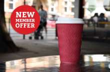 50% off a fresh cup of coffee for Platinum Club members!