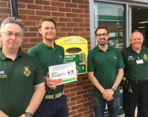 Defibrillator at Three Mile Cross