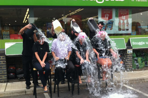 Fraser's Budgens does the Ice Bucket challenge!