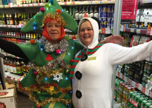 Fraser's Budgens gets with the Christmas Spirit!