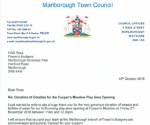 Fund raising acknowledged in Marlborough