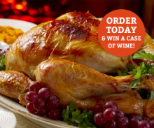 Order your Christmas Turkeys at Yarnton or Cannon Pool and you could and win a case of wine!