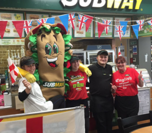 Subway Brize doing St George Proud!