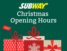 Subway Christmas Opening Hours