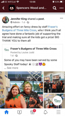 Three Mile Gets on the Halloween Trail