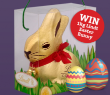 Win a 1kg Lindt Easter Bunny in our Prize Draw!