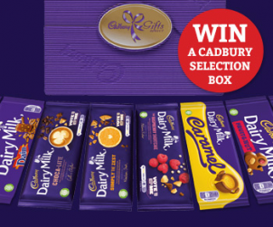 Win a Selection of your favourite Cadburys Bars!