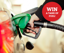 Win a tank of Fuel in our Prize Draw!